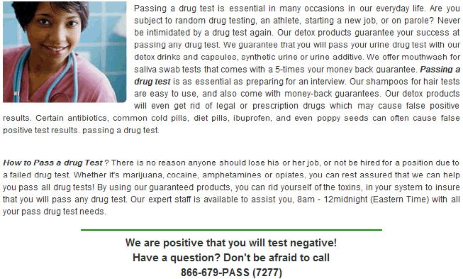 Pass Nicotine Drug Test